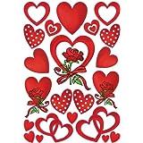 "HERMA Sticker DECOR ""Coeur et Roses"" 3 x 22 Stickers"
