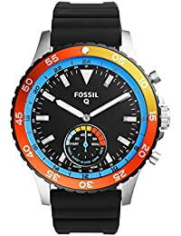 Fossil Q Crewmaster Hybrid Black Silicone Smartwatch