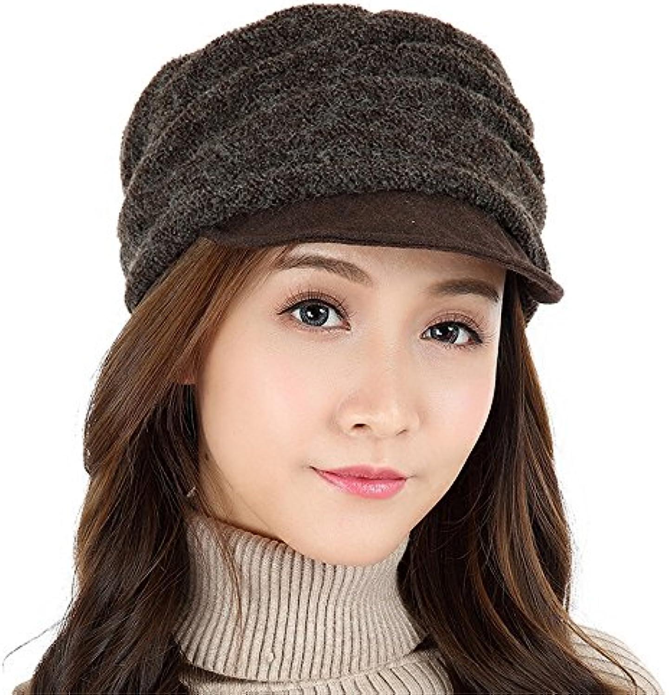 YXLMZ Donna Inverno Crochet Maglia berretto Hat Beanie cappello caldo  tutti-match berretto Maglia lavorato 767a33913c4c