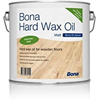 Bona Hardwax Oil Matt 10 Litres for wooden floors Indoor for Oils and Waxes in one step. The Oil is Water-Repellent and Dirt-Repellent – Neutral Oil Colourless