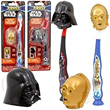 Star Wars Firefly Toothbrush & Cap Travel Kit - 2 Toothbrushes (1 x Darth Vader & 1 x C-3PO) by Firefly
