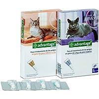 Ecuphar 403234 Advantage 80, 4 Pipetas, Gatos mas de 4 kg