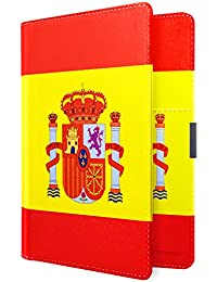 MoKo Carteras/Funda de Pasaporte - Passport Holder/Case Cover Multipropósito para 5.5 Pulgadas, Bandera Española