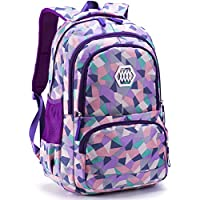 80cd41fcd0 Geometric Backpack Primary School Book Bag for Girls Boys 8-12 Years Old