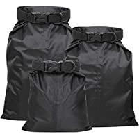 TRIXES Pack of 3 Waterproof Dry Bags - Store Travel Essentials - Small Medium and Large Sizes - Roll Top Pouches with Maximum Protection - Perfect for Fishing Sailing Camping Hiking