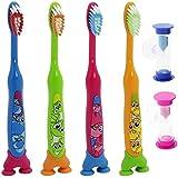 Com-Four kinderza hnbü brossettes, 4motifs animaux assortis et 2Sable coloré Montres 04er Mix2