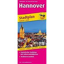 Hannover: Touristischer Stadtplan mit Sehenswürdigkeiten und Straßenverzeichnis. 1:18000