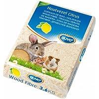 Duvo+ Lettiera in trucioli aromatizzata al limone per conigli, cavie, criceti e piccoli animali 3,6 kg 56 lt