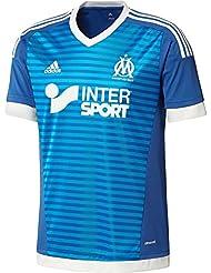 Adidas OM 3 JSY Y - T-shirt pour enfant, Bleu/blanc