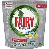 Fairy Platinum Caps para lavavajillas, Unidades Limón 63 Pezzi