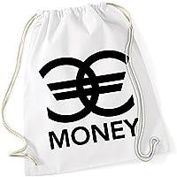 Money Euro Signs Borsa De Gym Bianco Certified Freak