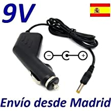 Cargador Coche Mechero 9V Reemplazo Reproductor DVD Wolder Emotion 3 Limited Edition Recambio Replacement
