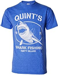 Quints Shark Fishing Amity Island Jaws Inspired Blue Mens T Shirt
