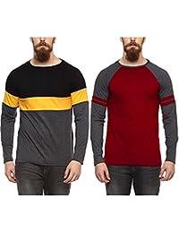 Veirdo Plain/Solid Black Round Neck Men's Cotton Tshirt-Combo tshirt-pack of 2