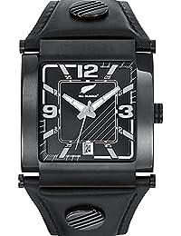 All Blacks - 680047 - Montre Homme - Quartz Analogique - Cadran Noir - Bracelet Cuir Noir