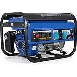 EBERTH 3000 Watt Générateur électrique (6,5 CV Moteur à essence 4 temps, Refroidi à l'air, 2x 230V, 1x 12V, Régulateur de ten