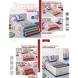 Colorintex - JVR - Edredones Ajustables - Shopping - Medidas: cama de 90 - Color: 030 azul - Disponible en varios colores y medidas