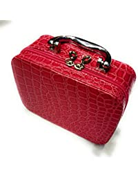 Pink Color Cosmetics Organizer Handbag Which Can Be Used For Multi Purposes Good For Carrying While Travelling