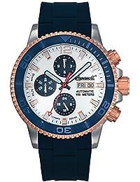 Ingersoll Bison No. 58automático para hombre reloj azul/plata de roségoldfarben/blanco in1105bl