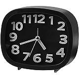 """3""""silencioso de cuarzo analógico despertador reloj cooja, Negro"""