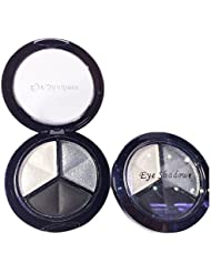Eyeshadow - SODIAL(R)Professional Smoky Cosmetic Set 3 Colors Natural Matte Eyeshadow Makeup Tools Palette Naked Nude Eye Shadow Glitter #1 black