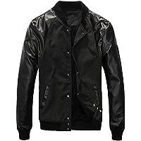M&C cantieri di grandi dimensioni autunno e l'inverno degli uomini più il cotone più spessa giacca calda del rivestimento del cappotto di cuoio di cucitura , black cotton , xl