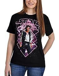 Star Wars Han Solo camiseta negro algodón gran calidad - L
