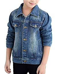 Zhhlinyuan Fashion Cowboy Outwear Clothes Kids Casual Denim Jacket Tops
