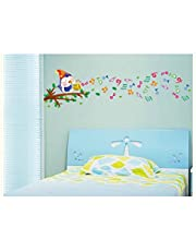 Oren Empower Birds Sing Song Music Wall Art Decorative Large Wall Sticker (Finished Size on Wall - 120(w) x 50(h) cm)