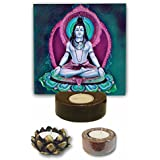 TYYC Home Decorative Candle Holders Diwali Gift Items Aesthetic Lord Shiva Tea Light Holder - Set Of 3