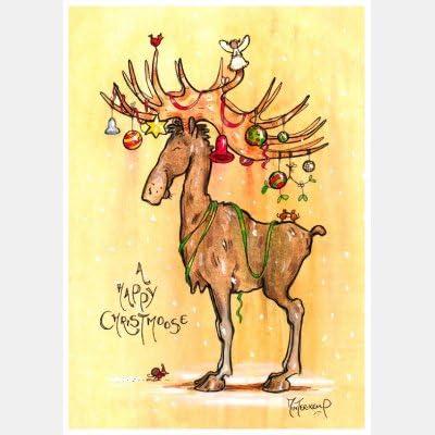 A Happy Christmoose Christmoose Christmoose – Cartes de Noël (lot de 10) B0758D1432   Emballage Solide  f110de