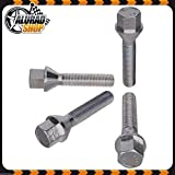 5 in Different Shaft Lengths to Choose Haskyy 10 Wheel Screw Bolts Chrome Cone Taper M14x1 32mm chrome