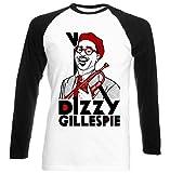 Photo de TEESQUARE1st Men's Dizzy Gillespie Jazz Black Long Sleeved T-Shirt par TEESQUARE1st