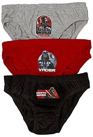 Disney - Slip - Garçon multicolore Star Wars - Darth Vader 3-4 ans