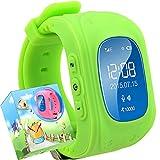 TURNMEON® Bambini Smartwatch GPS Della LBS Doppia Posizione di Sicurezza dei Bambini Osservare Attività Inseguitore SOS Chiamata di SIM Card per Android iOS (Green)