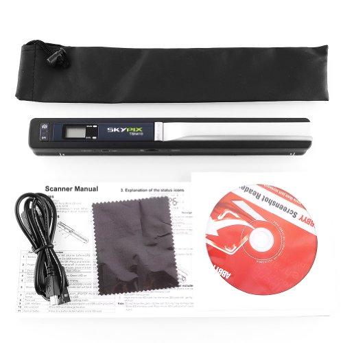 Amzdeal® SKYPIX TSN410 Scanner Portatile 900DPI per Documenti A4, Foto,