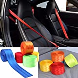 RISHIL WORLD 380cmX4.8cm Retractable 3 Bolt Point Front Car Seat Belt Safety Strap Single Item.