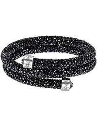 Swarovski Crystaldust Double Armreif, schwarz, Edelstahl