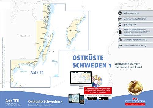 Sportbootkarten Satz 11: Ostküste Schweden 1 (Ausgabe 2017/2018): Simrishamn bis Mem mit Gotland und Öland: Alle Infos bei Amazon