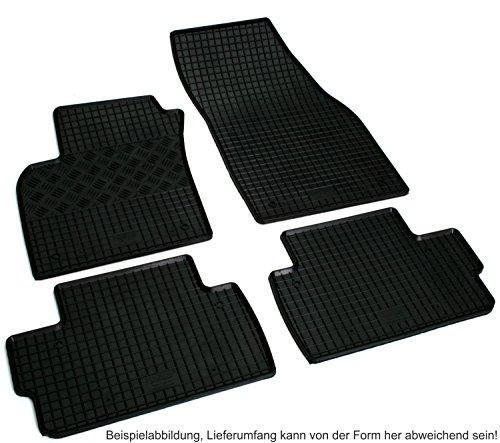 Preisvergleich Produktbild Gummi Fußmatten Set für Nissan Pulsar Gummifußmatten Gummimatten
