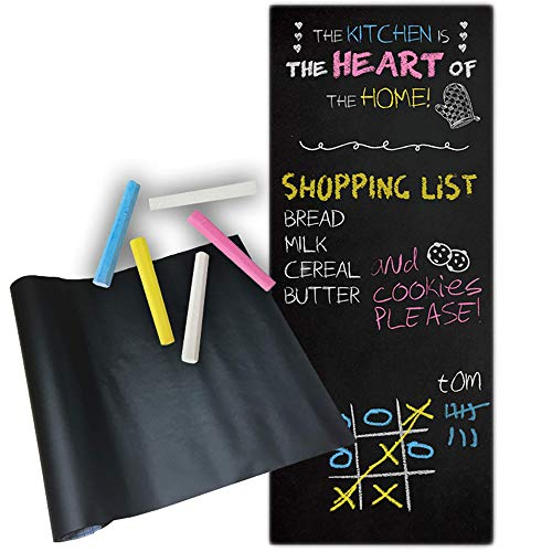 l, für Küche, Zuhause, Büro, Spielen, Schule, 45 x 200 cm, Kreidetafel, Tafelsticker ()
