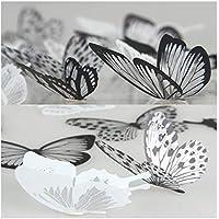 36 pegatinas 3D de mariposa, de Lisdripe, diseño vistoso, decoración de hogar y pared, decoración de ventanas para guardería, adhesivos artísticos, multicolor