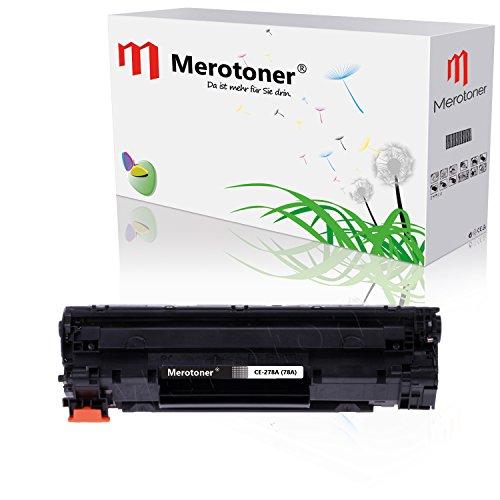 Merotoner® Toner- / Druckerpatrone Kompatibel zu HP LaserJet Pro CE-278A, 78A für HP LaserJet Pro P-1560, P-1560, P-1566, P-1600, P-1606 DN, Schwarz bis zu 2.100 Seitenleistung - Hp Ce278a Kompatibel Toner
