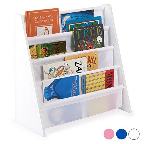 Hartley's Bücherregal für Kinder - aus Holz - weiß Blau Bücherregal