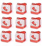 Unique Store Scatole Portaconfetti -50 pz Scatole Portaconfetti di Carta Bomboniere Regalo Segnaposti Decorazioni per Festa Matrimonio Battesimo Compleanno