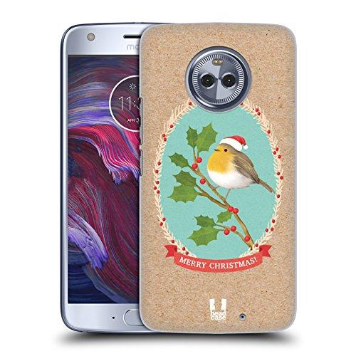 Head Case Designs Rotkelchen Weihnachtsklassiker 2 Ruckseite Hülle für Motorola Moto X4