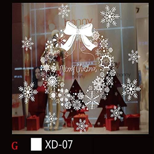 Weihnachtssticker Weihnachtsdeko Weihnachten Schneeball Removable Startseite Vinyl Fensterbilder Wandaufkleber Wandtattoo Wandsticker Fensterdeko Fenstersticker Wandtattoo Aufkleber Wanddeko