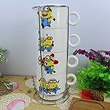 Satyam Kraft Minion mugs - 250 ml ( 4 in...