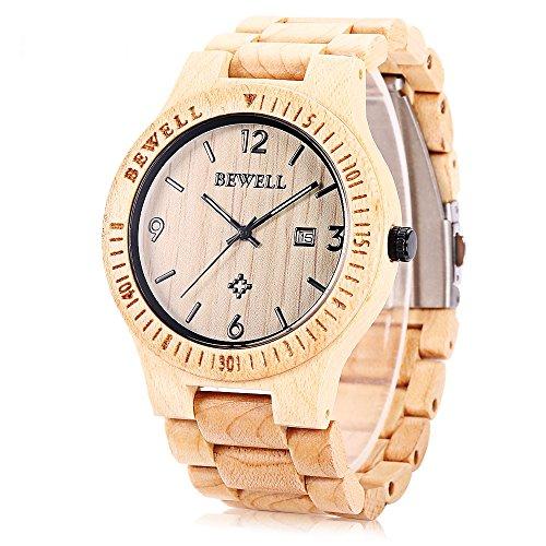 bewell-zs-w086b-reloj-de-madera-para-hombre-movimiento-analogico-cuarzo-visualizacion-de-fecha-maple