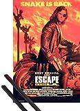 1art1 Poster + Sospensione : Fuga da Los Angeles Poster (98x68 cm) Kurt Russell E Coppia di Barre Porta Poster Nere